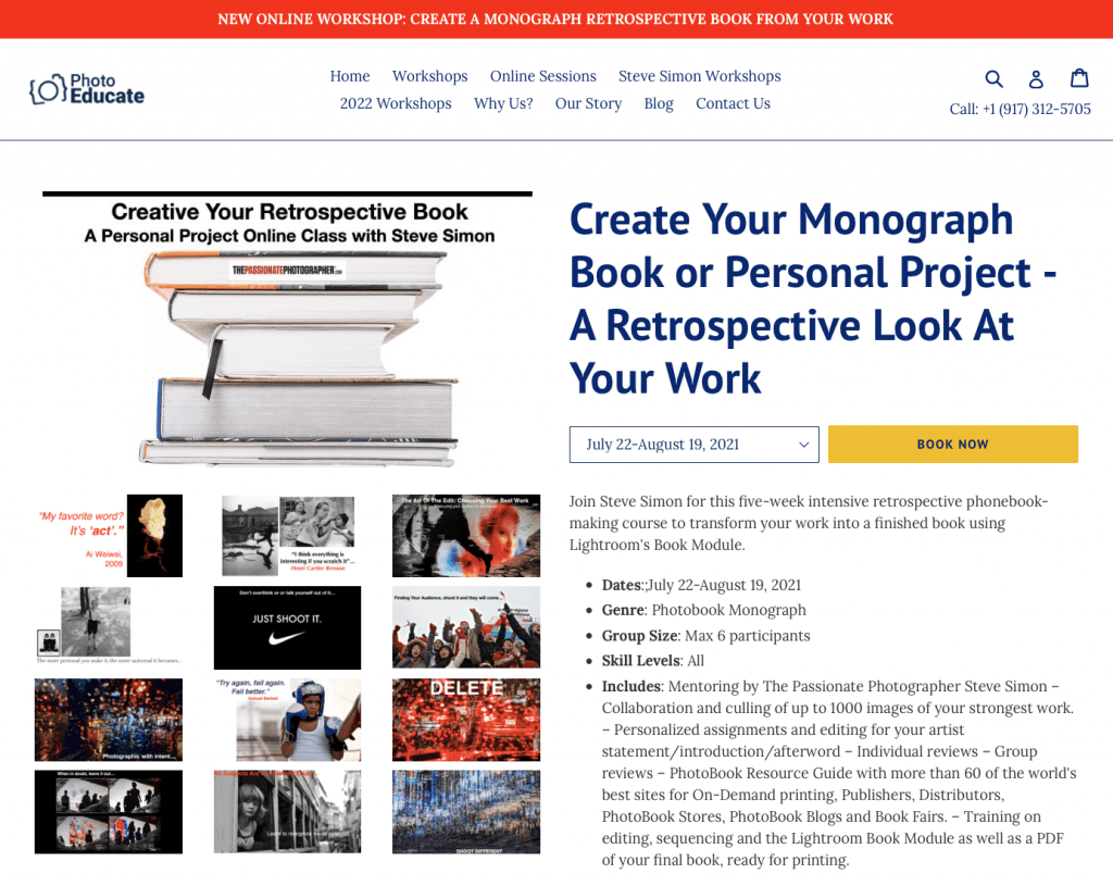 New Monograph Workshop Coming Up